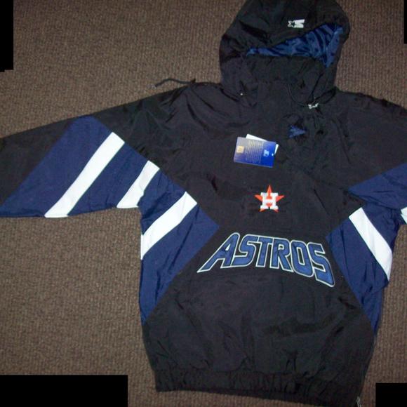 24b16e04 HOUSTON ASTROS Starter Half-Zip Jacket